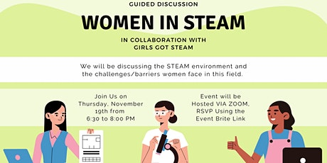 Guided Discussion: Women in STEAM (w/GirlsGotSteam) tickets