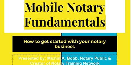 Mobile Notary Fundamentals Online Workshop tickets