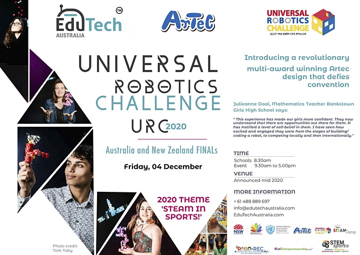 UNIVERSAL ROBOTICS CHALLENGE (URC) 2020 Australia's FINAL image