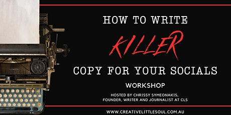 How to write killer copy for your socials workshop tickets
