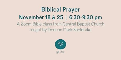 Biblical Prayer Zoom Bible Class billets