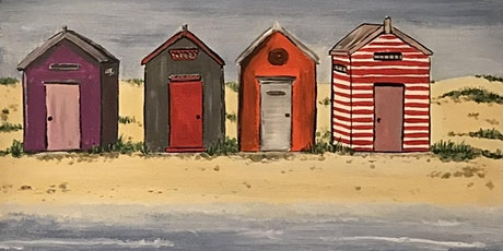 Acrylic Painting - ICONIC BEACH HUTS (Paint and Sip) tickets