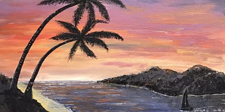 Acrylic Painting - BEACH SUNSET (Paint and Sip) tickets
