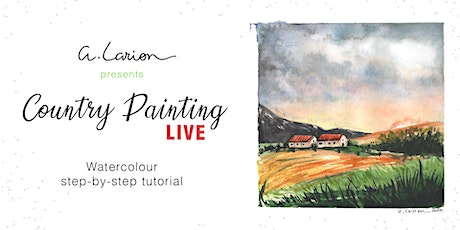 Country Painting LIVE - Acrylic Painting Tutorial  - Red stables tickets