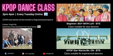 BTS KPOP Dance Class on ZOOM (Every Tuesday) tickets