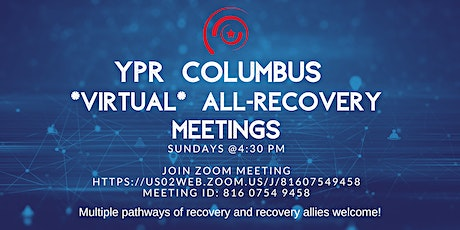 YPR Columbus: Weekly VIRTUAL All-Recovery Meeting tickets