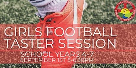 Girls football taster session tickets