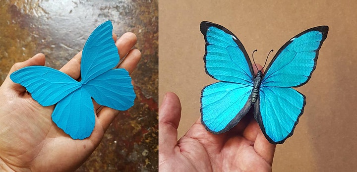 Paper Butterfly workshop - online image