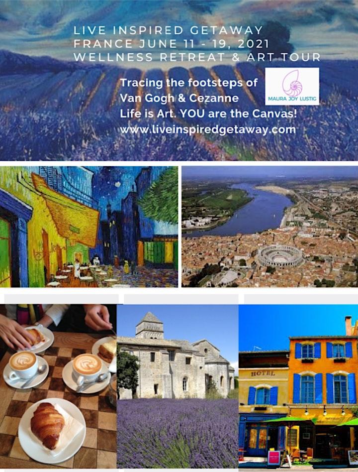 Live Inspired Getaway France 2022 Wellness Retreat & Art Tour image