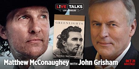 Matthew McConaughey in conversation with John Grisham tickets