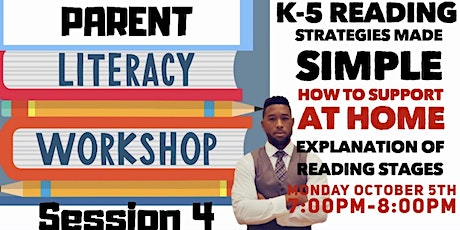 Literacy Workshop Series for Parents Part 1 of 4 tickets