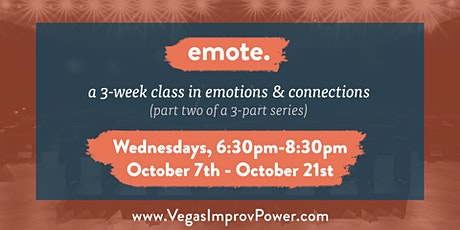emote. - a 3-week online improv class on emotions and connections tickets