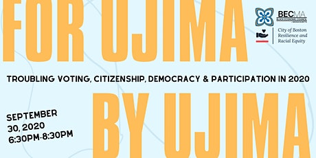 For Ujima By Ujima: Panel Discussion tickets