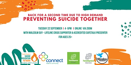 Preventing Suicide Together - An informal workshop for ages 25+ tickets