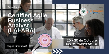 Certified Agile Business Analyst (LAI-ABA) - Curso  Online entradas