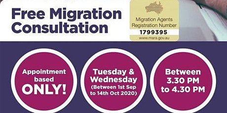 FREE Migration Consultation with our Registered Migration Agent tickets