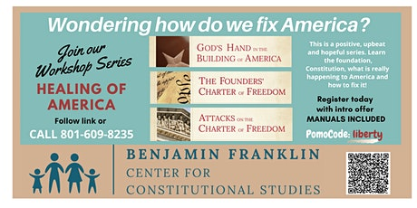 Healing of America WORKSHOPS Sept. 2020 use 50% off PROMO CODE: liberty tickets