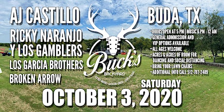 AJ Castillo | Ricky Naranjo Y Los Gamblers | Garcia Brothers | Broken Arrow tickets