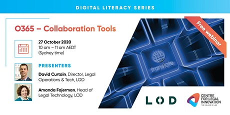 Digital Literacy Series: O365 - Collaboration Tools tickets