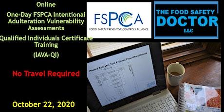 Virtual Food Defense  Qualified Individuals FSPCA (IAVA-QI) Training tickets