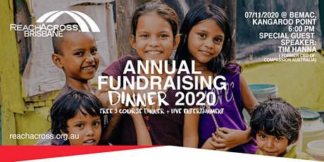 ReachAcross Brisbane - Annual Fundraising Dinner 2020 - Free Event tickets