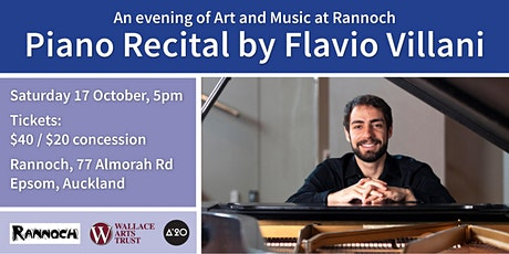 An evening of Art and Music at Rannoch: Piano recital by Flavio Villani tickets