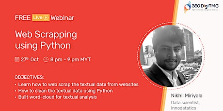 Web Scrapping using Python on 27th Oct (20:00 MYT) tickets