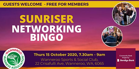 Networking Bingo Sunriser tickets