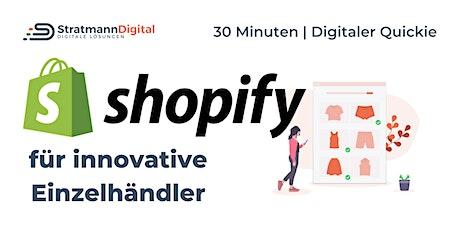 Einfach online verkaufen mit Shopify | Digital-Quickie 1 | #diwodo20 Tickets