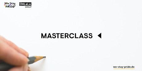 Masterclass: Das LGBT+ Netzwerk als Produkt Tickets