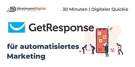 Marketing automatisieren mit GetResponse | Digital-Quickie 2 | #diwodo20 Tickets