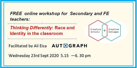 Secondary  & FE  - Thinking Differently: Race and Identity in the classroom tickets