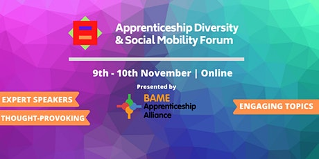 The Apprenticeship Diversity & Social Mobility Forum  - Winter Series Tickets