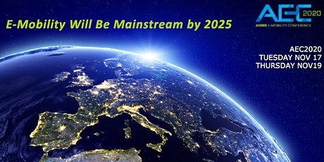 AEC2020 E-Mobility Will Be Mainstream by 2025 tickets