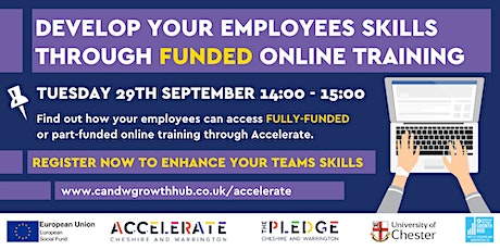 Access to funded skills and development training through Accelerate tickets