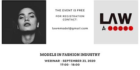 Models in fashion industry biglietti