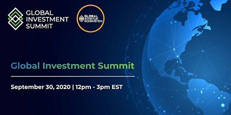 Global Investment Summit (Virtual) UNGA WEEK tickets