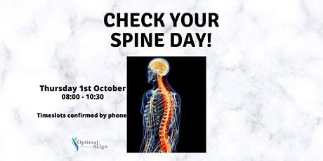 Free Spine and Posture Checks Day at Optimal Align Chiropractic tickets