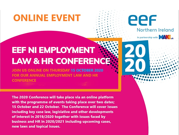 EEFNI Annual Employment Law and HR Conference 2020 image