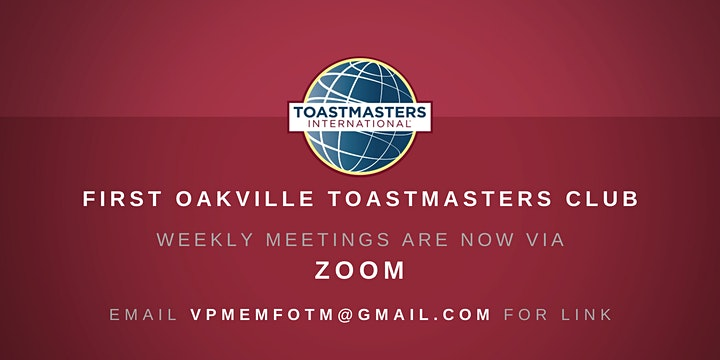 First Oakville Toastmasters Cub Meeting image