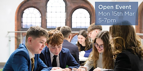 March Open Evening tickets