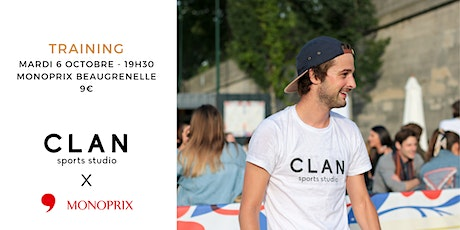Clan Train Club x Monoprix billets