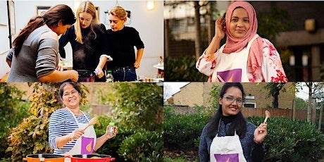 South Asian cookery course with Nafa, Noor, Urmila, and Nahida
