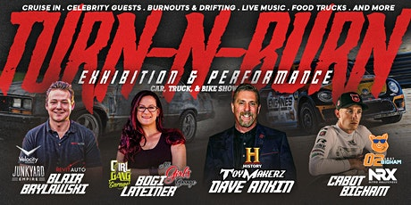 Turn -N-Burn Auto Show & Burnout Drift Competition with TV Celebrity Guests tickets