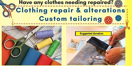 Clothing repairs and alterations - Drop in tickets