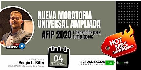 Grab - MORATORIA UNIVERSAL AMPLIADA AFIP 2020 y Beneficios para Cumplidores entradas