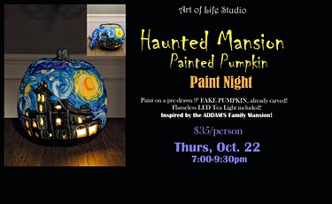 Paint Night: Haunted Mansion Painted Pumpkin tickets