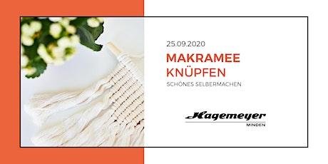 Makramee-Knüpfen bei Hagemeyer Tickets