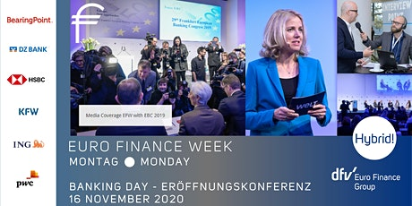Eröffnungskonferenz - EURO FINANCE WEEK 2020 - 16. November 2020 Tickets
