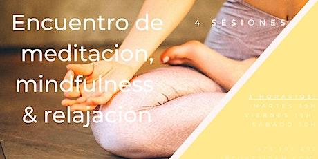 Curso Mindfulness 4 semanas entradas